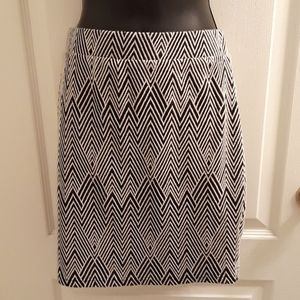 Suzy Shier geometric pencil skirt